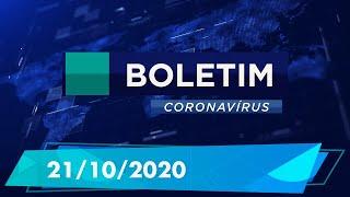 Boletim Epidemiológico Coronavírus 21/10/2020
