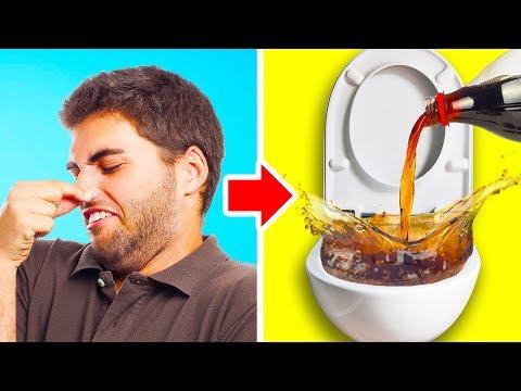 סרטון עם טיפים לטיפול בריחות רעים מהגוף, מהבית ומפריטים בבית