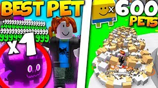 Worlds RAREST PET Vs 600 NOOB DOG PETS! (*BROKE GAME!*) - Roblox Pet Simulator