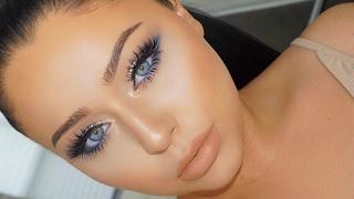 NAVY Blue Date Night Smokey Eye Makeup Tutorial