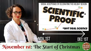 November 1st: The Start of Christmas Season. Proven with Science! (*not actually)