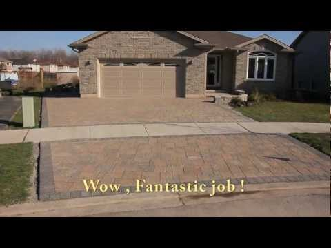 , title : 'Building a driveway with Stone Pavers video footage'