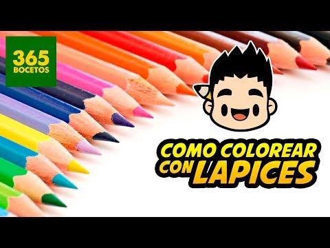 COMO COLOREAR CON LAPICES DE COLORES - tips para pintar con colores de madera