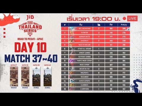 ชมสด! แข่งพับจี วันที่ 10 แมตช์ 37~40   PUBG THAILAND SERIES 2020 ROAD TO PCS#1 - APAC