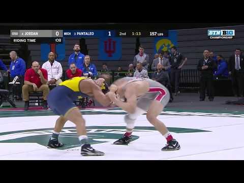 B1G Wrestling Championships: 157 LBs Ohio State's Micah Jordan vs. Michigan's Alec Pantaleo