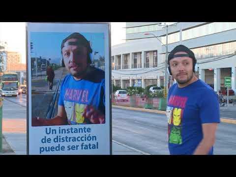 Campaña de prevención vial con tecnología interactiva FCAB - Cuida Tu Vida #Calama