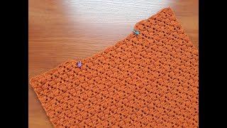 Пуловер ажурный крючком. Часть 4. Горловина спинки.