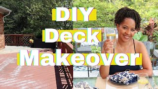 CLEAN AND DECORATE BACKYARD | DECK MAKEOVER