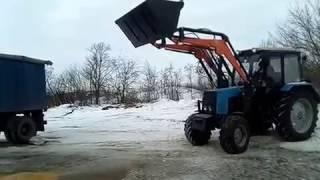Погрузчик Фронтальный Быстросъёмный НТ-4М КУН на МТЗ и ЮМЗ от производителя. - видео 1