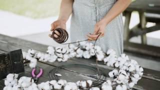 DIY Magnolia Market Cotton Wreath