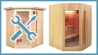 Sauna zum selber bauen (Aufbau und Montage der Relax-XL, Redsun-XL-BIG und weitere Saunen)
