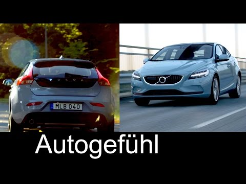 Volvo V40 Facelift with Thor's hammer headlights 2017 Preview new neu - Autogefühl