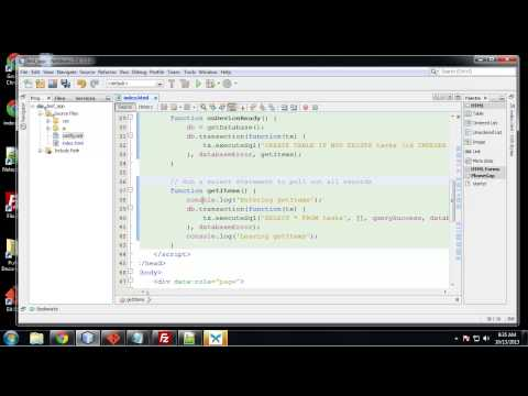 Learn to Build Mobile Apps from Scratch - Chapter 23 - Storage with Web SQL