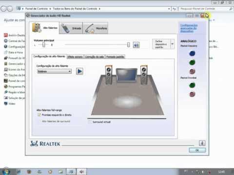 gerenciador de audio hd realtek para xp