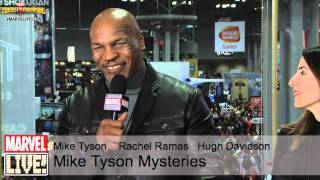 Mike Tyson Interacts With Some Fans from the Marvel Skybox at NYCC 2014