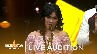 Mantan Terindah Saxophone Agnes Indah Feat Rossa | Live Audition 4 | Rising Star Indonesia 2019