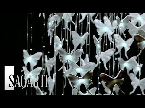 Новинка от фабрики света Sagarti - люстры и бабочки в фарфоре!