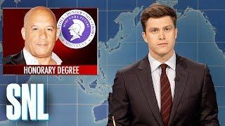 Weekend Update on Vin Diesel Receiving Honorary Degree - SNL - Video Youtube