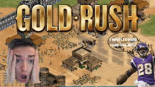 AoE2 - Regicide Rush! Amazing Goldrush FFA on a legendary map!