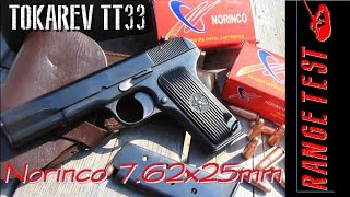 Tokarev TT33 Range Review Norinco 7.62x25mm Review