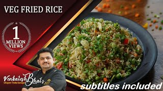 Venkatesh Bhat Makes Veg Fried Rice   CC   Veg Fried Rice   Fried Rice Recipe  Vegetable Fried Rice