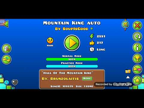 In The Hall Of The Mountain King Auto Geometry Dash