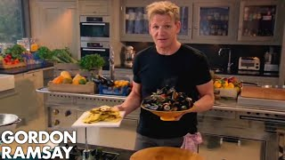 Steamed Mussels with Saffron Flatbread | Fast Food with Gordon Ramsay