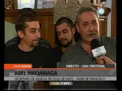 <p>Entrevista posterior a la conferencia de prensa de la restitución de Francisco Madariaga Quintela el 17 de febrero de 2010, realizada por el programa Visión 7 de la TV Pública .</p>