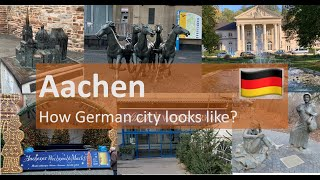 How Aachen looks like/ My city tour by car/ sightseeing in Germany/Indian Vlogger in Germany