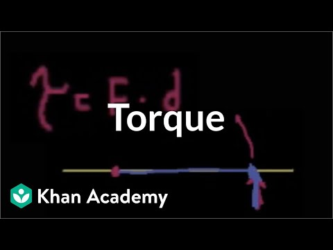 Introduction to torque   Moments, torque, and angular momentum   Physics   Khan Academy