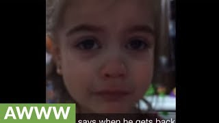 "Little girl cries after dad forgets ""goodbye ritual"""