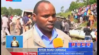 Four people die in a tragic road accident in Nyeri