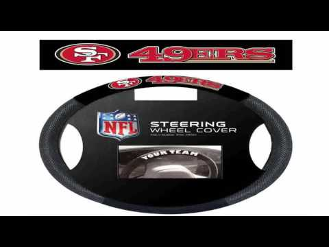 NFL San Francisco 49Ers Poly Suede Steering Wheel Cover