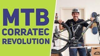 Unboxing e detalhes da MTB Corratec Revolution 29 com coroas ovais