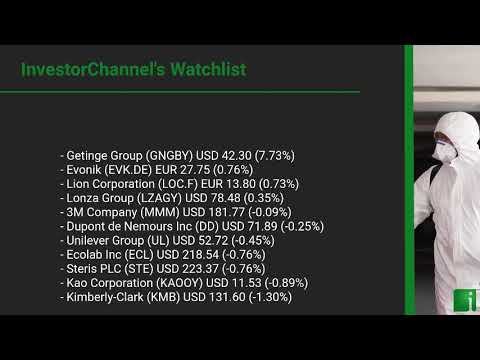 InvestorChannel's Disinfection Watchlist Update for Monday, October, 18, 2021, 16:00 EST