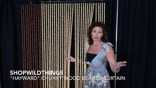 ShopWildThings Hayward Door Beads Wooden High End Beaded Curtains For A Classy Home Or Store!