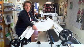 How To Load A Quilt On Your Handiquilter Longarm.