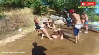 Drunk Bikini Girls Brawl While Rafting