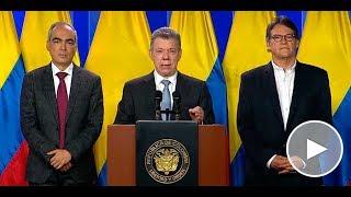 Santos anuncia 'retomar diálogos de paz con el ELN'
