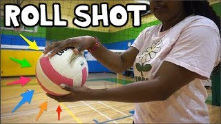 How To ROLL SHOT a Volleyball for Beginners!