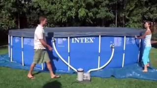 Intex Frame Pool Set Rondo Aufbau Video Deutsch