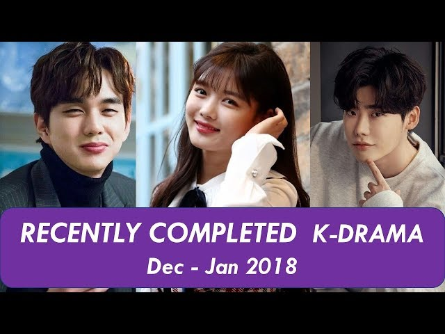 Recently Completed Korean Drama Jan Feb 2019