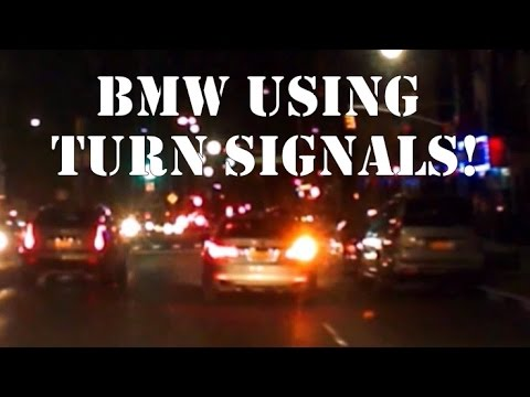 Rare Footage Of BMW Using Turn Signals