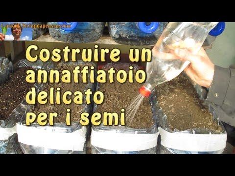 3 l'orto di Stefanoapeassassina - costruire un annaffiatoio delicato per i semi bottiglia cocacola