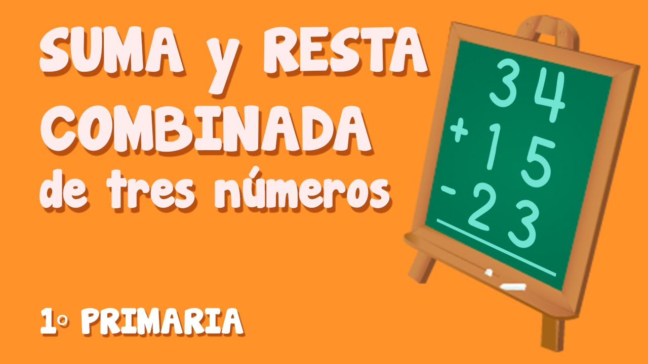 Sumas y restas combinadas de tres números para niños de Primaria (2/3)