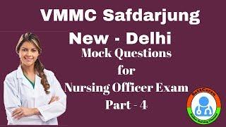 Safdarjung Nursing Officer Exam Mock Questions For 07 10 2018 Part   4