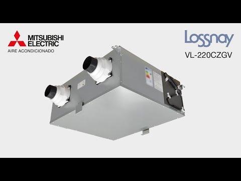 Lossnay VL-220CZGV - Ventilación mecánica centralizada con recuperación de calor para uso doméstico