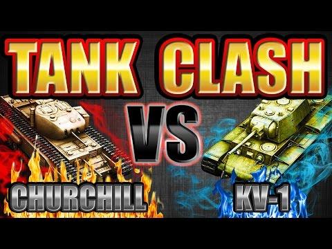 TANK CLASH  Churchill VS KV-1 Best Credit Earner?   World of Tanks Blitz  