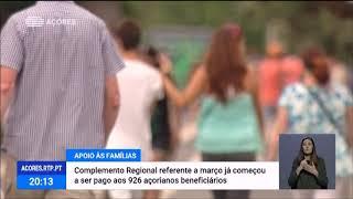 29/04: Complemento Regional de Apoio às Famílias referente a março atribuído a mais de 900 Açorianos