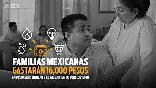 Familias mexicanas gastarán en promedio 16,000 pesos durante el aislamiento por COVID-19